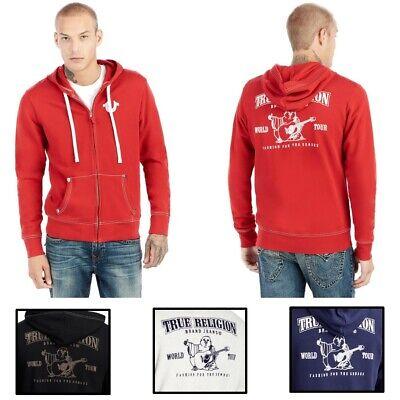 True Religion Herren beflockt Classic Buddha Logo Full Zip Hoodie Sweatshirt   eBay