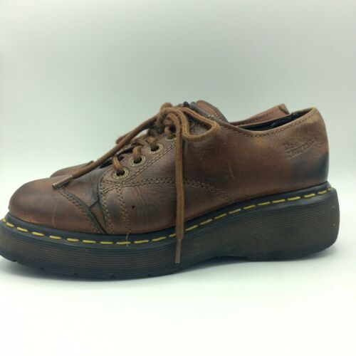 Doc Dr Martens Womens Original Air Wair Brown Leat