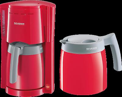 Severin KA 9746 Rot-Grau Filter Kaffeemaschine 2 Thermoskannen / Isokannen
