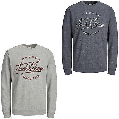 Jack /& Jones Originals Sweater Chest Logo Crew Neck Jumper Mens Jorrafsmen