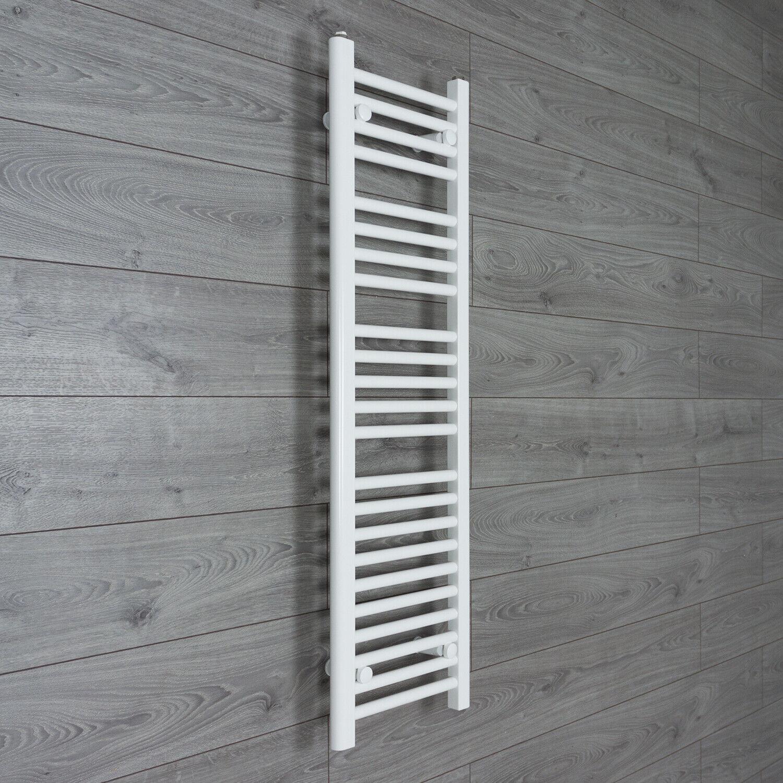 1200 mm High 300 mm Wide Flat Weiß Heated Heated Heated Towel Rail Radiator Bathroom Kitchen 6b9aa6