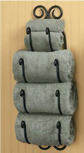 Image Is Loading Park Designs Decorative Scroll Bath Towel Holder Black