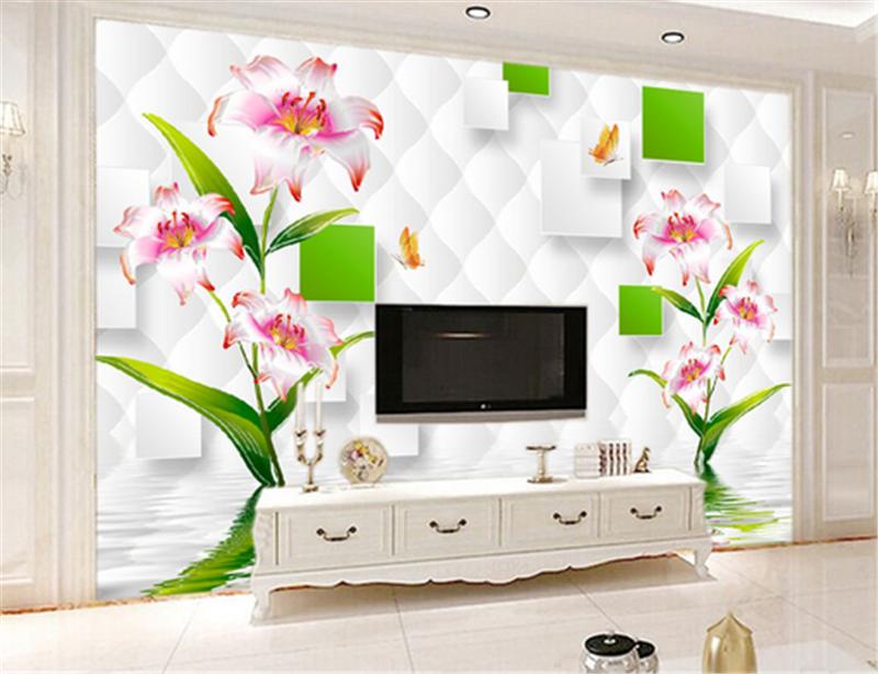 3D Flower Foliage Grid 724 Wallpaper Mural Paper Wall Print Wallpaper Murals UK