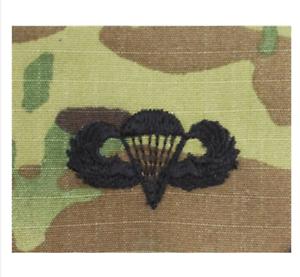 PARACHUTIST ARMY EMBROIDERED BADGE ON OCP SEW ON GENUINE U.S BASIC