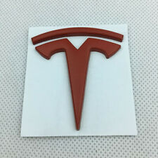 3D Black Metal Car Side Fender Rear Trunk Emblem Badge Sticker Decals fit Tesla