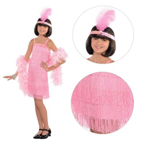 Bambine Roaring 20s Stile Charleston Costume Libro Settimana Costume Frangia UK