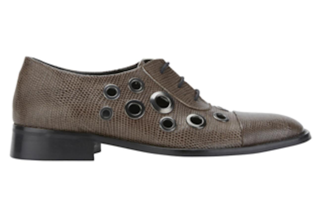 Parure London champignon en cuir marron Eckett Lacets Oeillet Chaussures Chaussures 6 NEUF