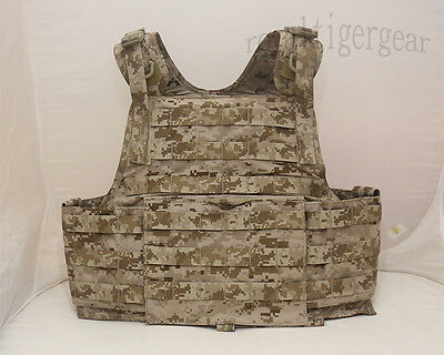 Medium.molle Digital Camo Front Carrier Tactical Vest Panel