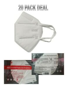 20 KN95 Foldable 4-Layer Protective Face Masks Ships in 3 days from Florida