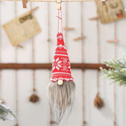 Christmas Swedish Gnome Santa Plush Doll Ornament Xmas Home Decor With LED Light