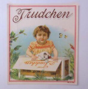 Oblaten-Gatti-Bambini-Mode-Trudchen-1900-11-5-cm-x-10-cm-66247
