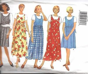 4454-UNCUT-Vintage-Butterick-SEWING-Pattern-Misses-Maternity-Jumper-OOP-SEW-FF