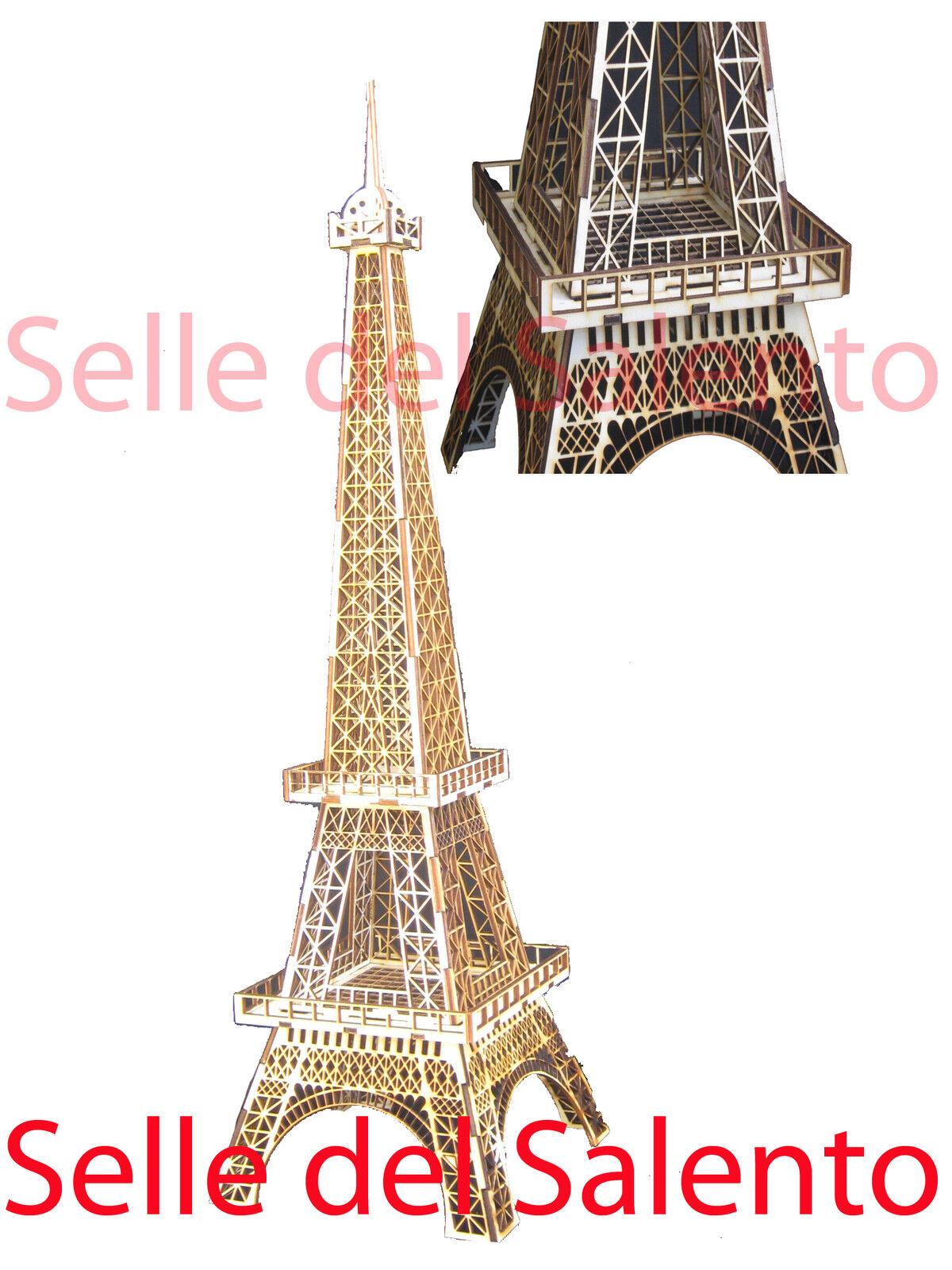 Model 3d Puzzle Eiffel Tower 70 cm Souvenir Wood
