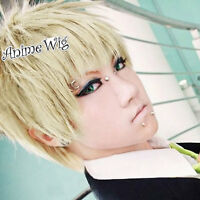 Dramatical Murder Noiz1 Short Blonde Anime Layered Men Women Cosplay Hair Wig