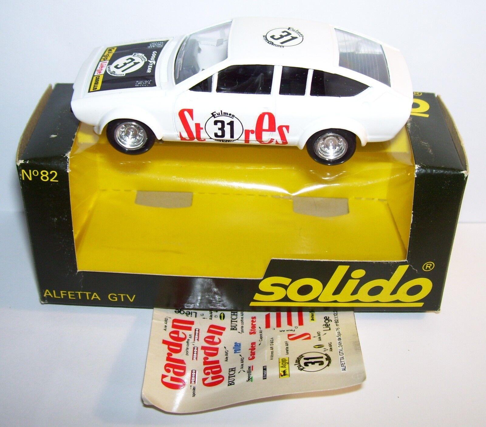 OLD SOLIDO ALFA ROMEO ALFETTA GTV GTV GTV 24 STUNDEN SPA 1976 NR. e3318e