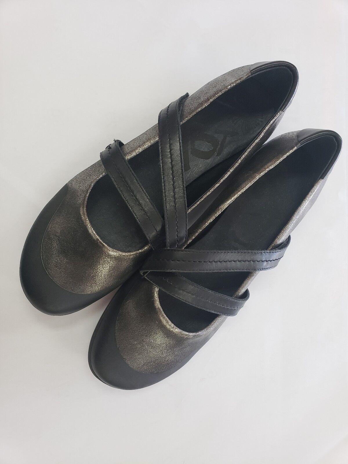 OTBT Bristol Mujer Mujer Mujer Negro Cuero Mary Jane Resbalón en Zapatos para mujer Talla 9.5 M  artículos novedosos