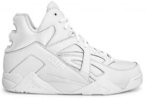 Chaussures-FILA-CAGE-Mid-Blanc-Cuir