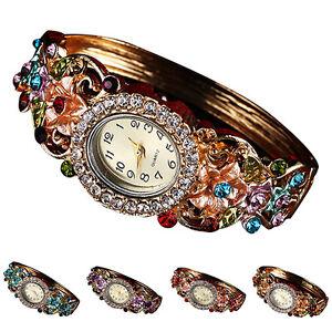JT-Femme-Luxe-Creux-Fleur-Strass-Cadran-Quartz-Bracelet-Montre-Bracelet-S