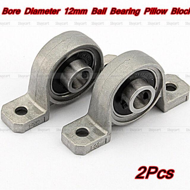 2x Zinc Alloy Support Kit Mounted Ball Self-aligning Bearing Pillow Block 8mm