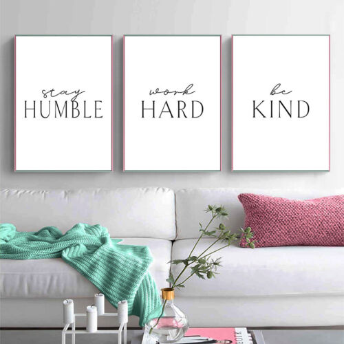 Motivational Quotes Poster Wall Art Canvas Print Picture Home Office Room Decor