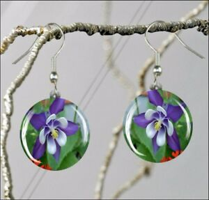 FLOWER-BLUE-COLUMBINE-ROUND-GLASS-EARRINGS-fdg5Z