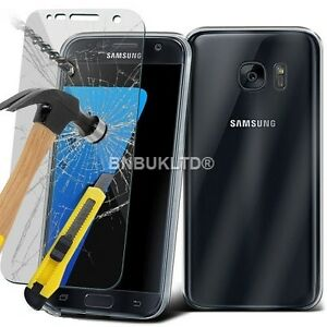 Clear-Slim-Gel-Case-amp-Glass-Screen-Protector-for-Samsung-Galaxy-S7