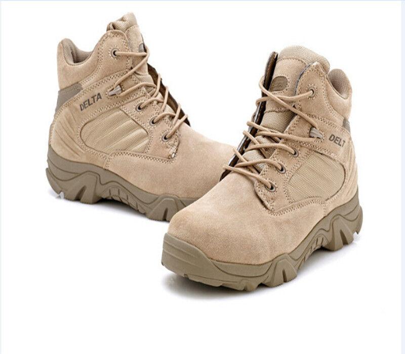 Nuovi uomini uomini uomini scarpone militare tattico all'aperto deserto scarpe da trekking conforto respirabile 82a20b