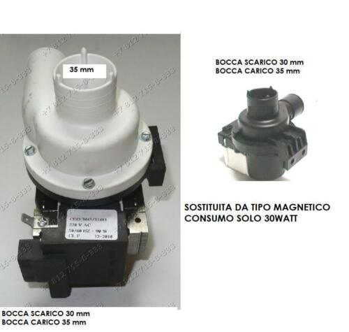 ELETTROPOMPA SCARICO POMPA PLASET 7455 51411 ARISTON INDESIT 035656