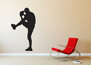 baseball player pitcher silhouette wall vinyl graphic decal bedroom