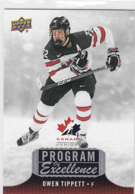 2017-18 Upper Deck Team Canada Juniors  Program of Excellence POE-21 O. TIPPETT