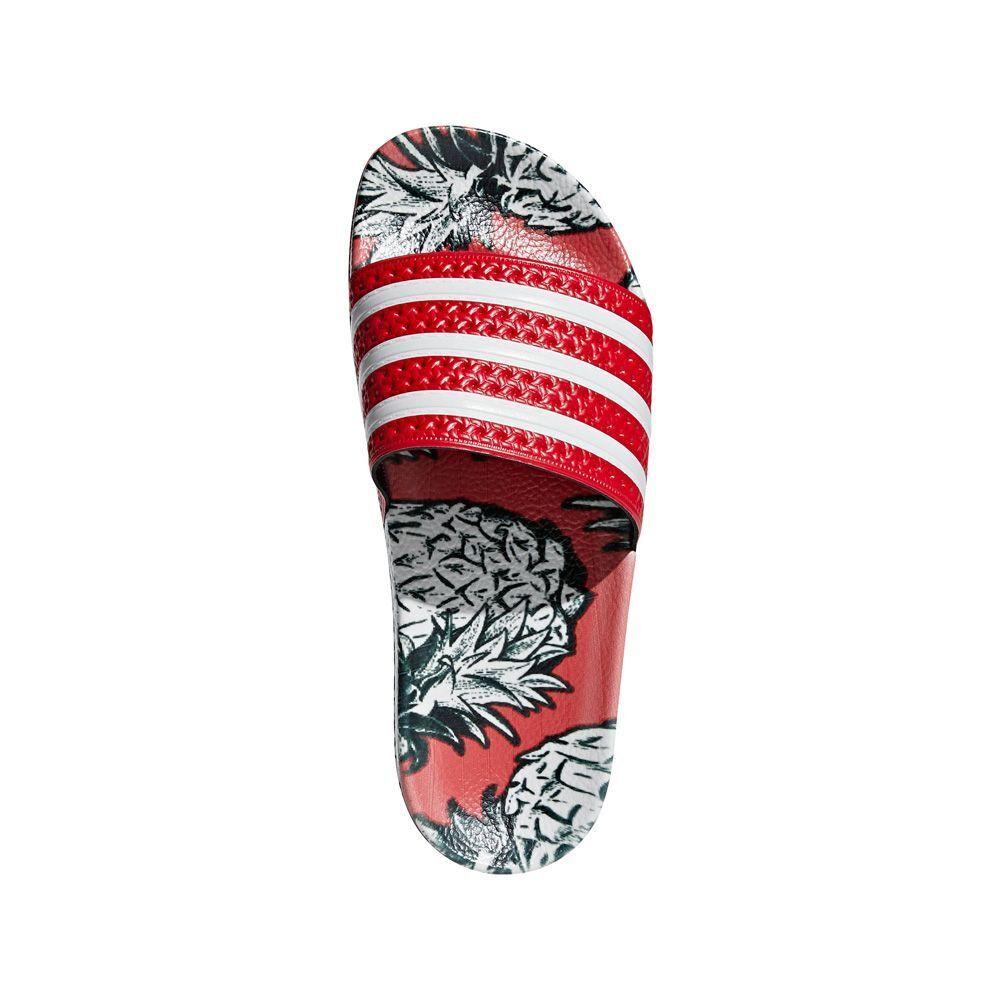 New Donna Adidas ADILETTE FARM Sandals Slides Flop Flops Pineapple Red D96683