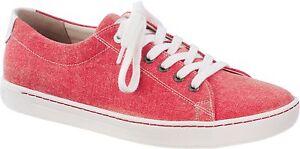 dbc63388b1699 Das Bild wird geladen Birkenstock-Arran-1004650-Textil-Red-Basic-Damen -Schnuerschuh-