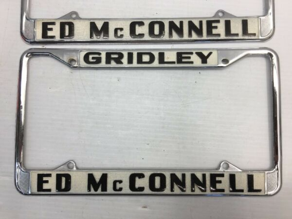 VINTAGE PAIR GRIDLEY ED Mc CONNELL CALIFORNIA CAR DEALER License ...