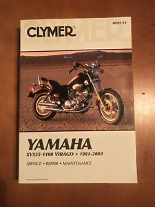 Clymer-Service-Repair-Maintenance-Manual-Yamaha-XV535-1100-Virago-1981-2003