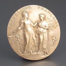 AntiqueFrench BronzeMedal Bas-Relief, Women, Goddess, Signed Alphée Dubois