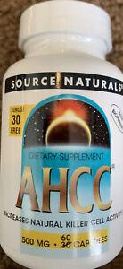 SOURCE NATURALS AHCC 500 Mg Capsule, 60 Capsules