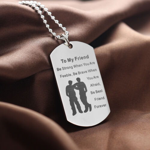 Mothers Day Gifts For Her Mom Pendant Chain Dog Tag Necklace Stainless Steel Mum