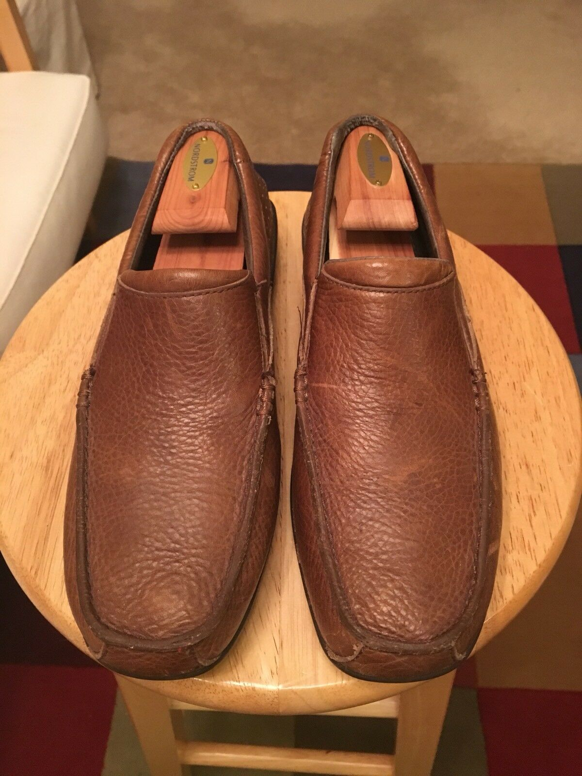 Merrell Performance Brown Dark Earth Men's US8 Leather Driving Loafers shoes