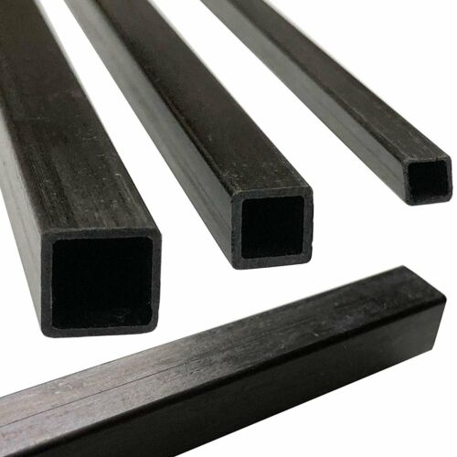 Pultruded Square Carbon Fiber Tube 4 6mm x 6mm x 1000mm