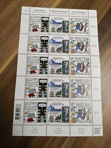 Zusammendruckbogen / Sheet se tenant Comic Festival Fumetto Postfrisch / MNH