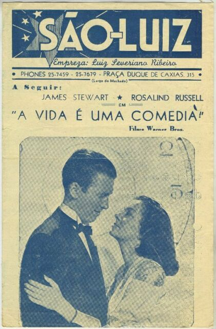 Lot of 3 Vintage JAMES STEWART Movie Theater Programs