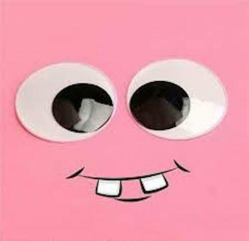 self adhesive 1 sample pair 40mm googley googly wibbly wiggly wobbly craft eyes