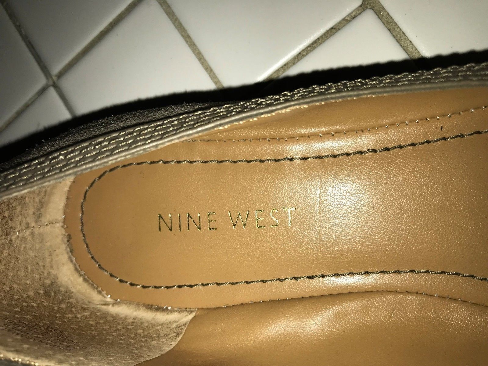 NEW - Nine West - Taupe Flat (Tawny Braun) Suede, Ballet Flat Taupe Wi Buckle – 8½ M 8931e9