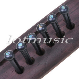 6pcs-Black-Acoustic-Guitar-Bridge-Pins-Guitar-String-Pins-High-Quality