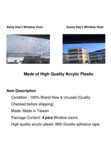 For Honda HR-V 14-18 Window Visor Vent Shade Rain Guard Door Visor HRV Deflector