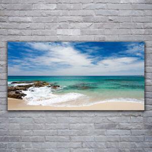 Glasbilder Wandbild Druck auf Glas 120x60 Sonne Meer Strand Landschaft