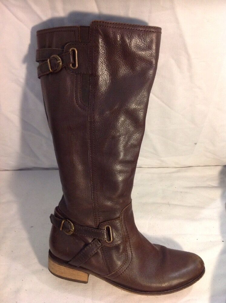 Finish The Look Brown Knee High Leather Boots Size 6