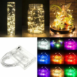 100-LEDs-Battery-Operated-Mini-LED-Copper-Wire-String-Fairy-Lights-2-3-4-5-10M