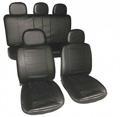 VAUXHALL CORSA C 01-07 FULL LEATHER LOOK CAR SEAT COVER SET BLACK