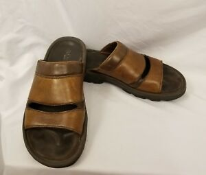 Columbia-Womens-Sandals-Sz-8-Brown-Leather-Omni-Grip-Open-Toe-Strappy-Slip-On